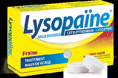 LYSOPAINE 36 CPR A SUCER FRAISE SANS SUCRE