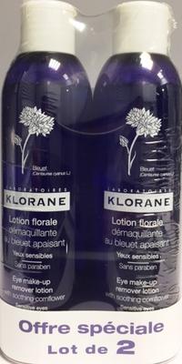 KLORANE LOTION BLEUET 200ML X2