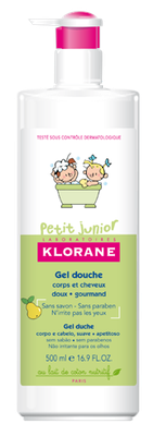KLORANE JUNIOR GEL CORPS-CHEVEUX POIRE500ML