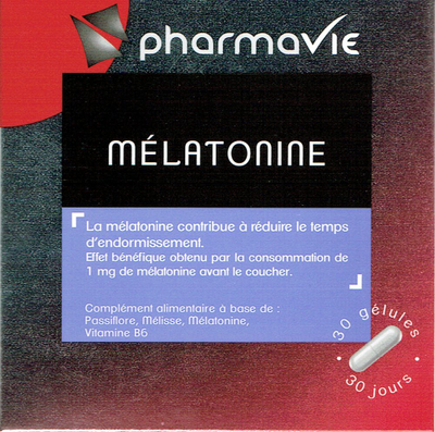 PHARMAVIE MELATONINE 30 GELULES