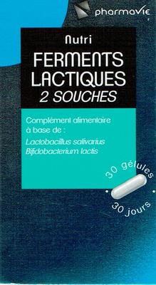PHARMAVIE FERMENTS LACTIQUES 2 SOUCHES 30 GELULES