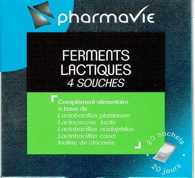 PHARMAVIE FERMENTS LACTIQUES 4 SOUCHES 20 SACHETS