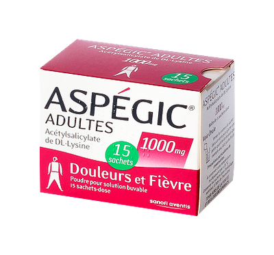 ASPEGIC 1 000MG ADULTE 15 SACHETS