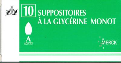GLYCERINE SUPPO AD MONOT 10