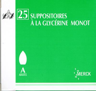 GLYCERINE SUPPO AD MONOT 25