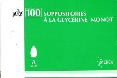 GLYCERINE SUPPO AD MONOT 100