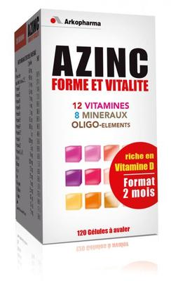 AZINC FORME  VITALITE ADULTE 120 GELULES