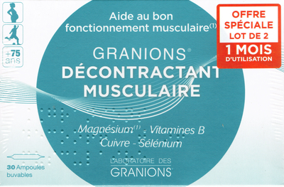 GRANIONS DECONTRACTANT MUSCULAIRE 60 AMP2ML