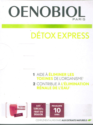 OENOBIOL DETOX EXPRESS SUREAU/FRUIT DU DRAGON 10 STICKS
