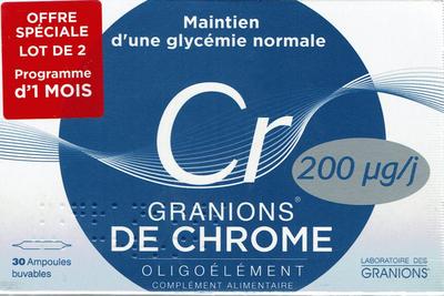 GRANIONS DE CHROME 2x30 AMPOULES BUVABLES