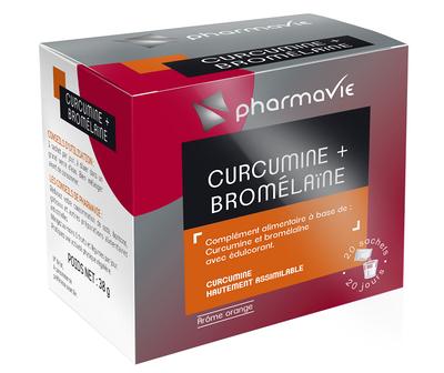 PHARMAVIE CURCUMINE + BROMELAINE 20 SACHETS