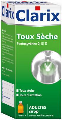 CLARIX TOUX SECHE PENTOX ADULT 200ML