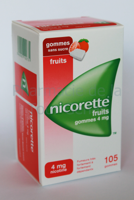 NICORETTE 4MG 105 GOMMES FRUIT