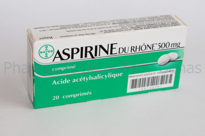ASPIRINE RHONE 500MG 20 CPR