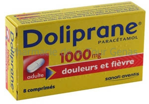 DOLIPRANE 1 000MG 8 CPR