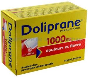 DOLIPRANE 1 000MG 8 SACHETS