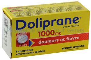 DOLIPRANE 1 000MG 8 CPR EFFERVESCENTS SECABLES
