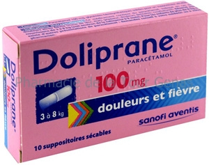 DOLIPRANE 100MG 10 SUPPOSITOIRES SECABLES