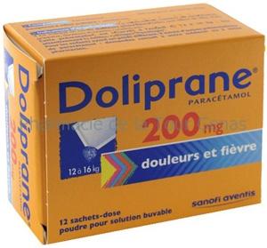 DOLIPRANE 200MG 12 SACHETS