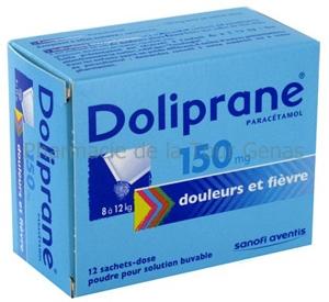 DOLIPRANE 150MG 12 SACHETS