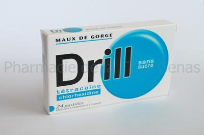 DRILL 24 PASTILLES  A SUCER SANS SUCRE