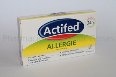 ACTIFED ALLERGIE 10MG 7 CPR SECABLES