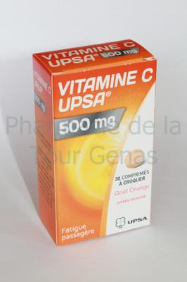 VIT C 500MG UPSA 30 CPR A CROQUER