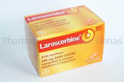 LAROSCORBINE 500MG 30 CPR CROQUER SANS SUCRE