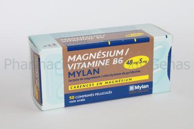 MAGNESIUM/B6  MYLAN 50 CPR