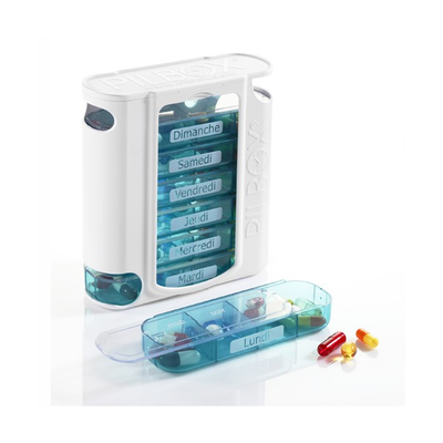 PILBOX 7 - Pilulier Semainier - 7 boitiers de 4 cases