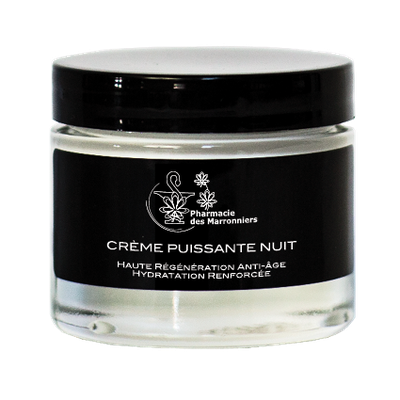CREME PUISSANTE ANTI-AGE NUIT -Pharmacie Marronniers- 50ml