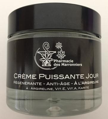 CREME PUISSANTE ANTI-AGE JOUR à l'ARGIRELINE -Pharmacie Marronniers- 50ml