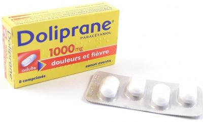 DOLIPRANE 1000mg Comprimés à avaler Boite de 8 cprs