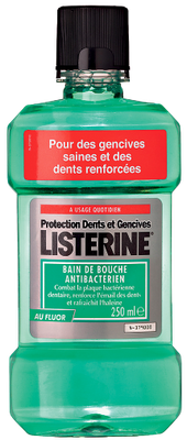 LISTERINE BAIN de BOUCHE PROTECTION DENTS-GENCIVES 250ML