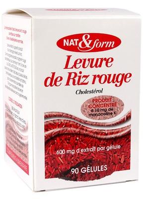 LEVURE DE RIZ ROUGE /CHOLESTEROL NAT&FORM Bte de 90 GELULES