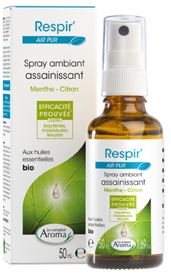 Respir' Spray Ambiant Assainissant MENTHE-CITRON 50ml