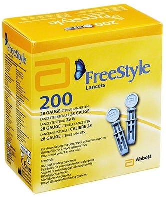 FREESTYLE PAPILLON LANCET BOITE DE 200 LANCETTES - 28 gauge