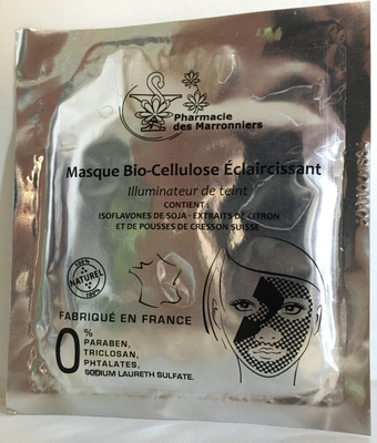 MASQUE BIO-CELLULOSE ECLAIRCISSANT Pharmacie Marronniers 1 sachet 8ml
