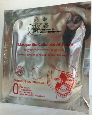 MASQUE BIO-CELLULOSE ANTI-AGE Pharmacie Marronniers 1 sachet 8ml