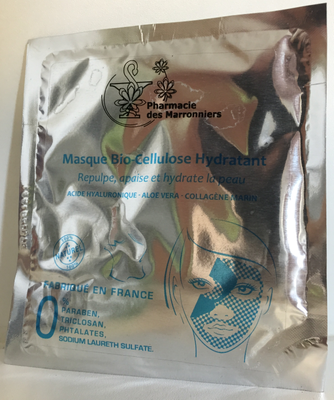MASQUE BIO-CELLULOSE HYDRATANT Pharmacie Marronniers 1 sachet 8ml