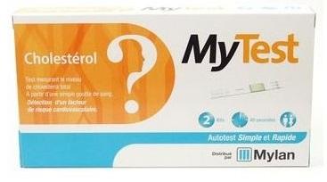 TEST CHOLESTEROL MYTEST MYLAN x2 kits