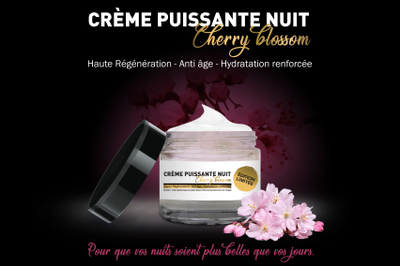 CREME NUIT Edition Cherry Blossom Limitée Pharmacie Marronniers 50ml