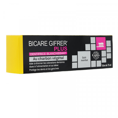 BICARE PLUS DENTIFRICE CHARBON VEGETAL 75ml