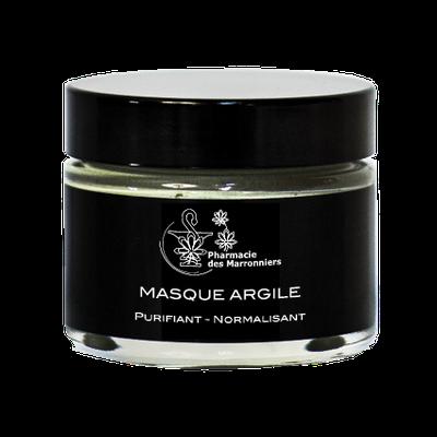 MASQUE ARGILE PURIFIANT NORMALISANT -Pharmacie Marronniers- 50ml