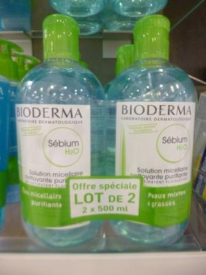 SEBIUM H20 SOL MICEL P/M/G500ML X2
