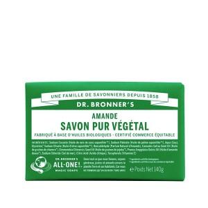 Savon Pur Végétal Amande Dr.Bronner's 140G