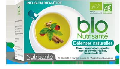 NUTRISANTE INFUSION BIO DEFENSES NATURELLES 20 SACHETS