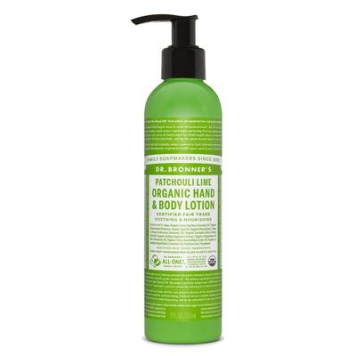 Lait hydratant bio patchouli-citron vert  Dr.Bronner's 240ml