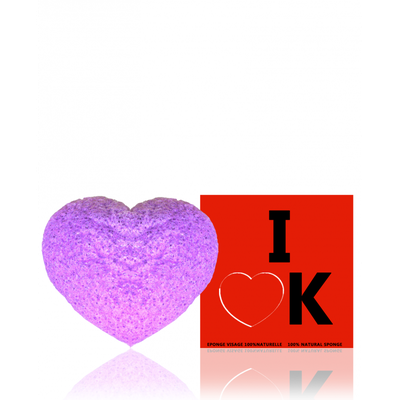 INDEMNE EPONGE KONJAC VISAGE À LA VIOLETTE I LOVE K®
