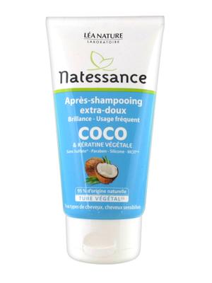 Natessance Après-Shampooing Extra-Doux Coco et Kératine Végétale 150 ml